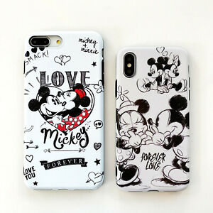 Cute-Disney-Minnie-Mouse-Couple-Soft-Case-Cover-iPhone-7-8Plus-X-XR-11Pro-XS-Max