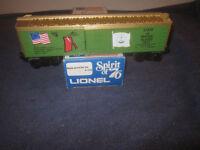 Lionel Trains 6-7613 Spirit Of '76 State Of Rhode Island Box Car