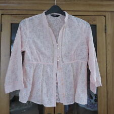 F & F Pink Shirt/top Size 38 bust 3/4 sleeve excellent