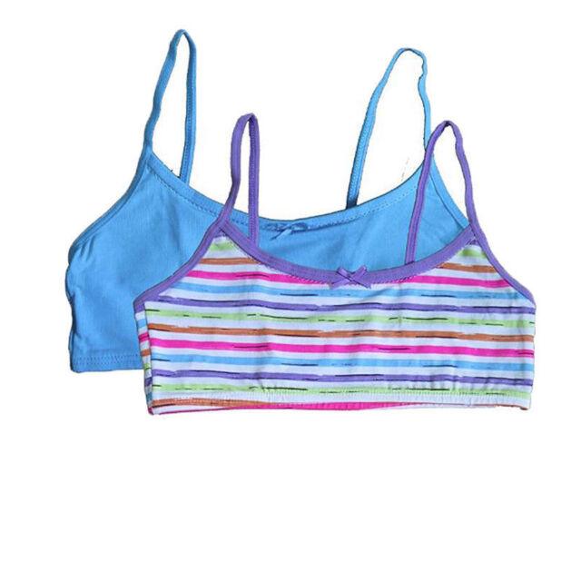 5d7cb818744 2 Pack of Hanes Girls Teen Crop Top Bralette Pullover Choose Size ...