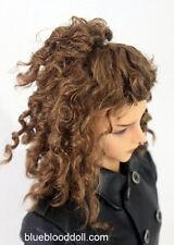 "1/3 bjd 8-9"" head synthetic mohair brown doll wig Iplehouse dollfie luts W-JD243"