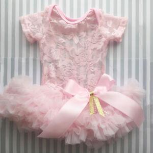 64e5163f2ea2 USA Infant Baby Girl Festival Lace Princess Romper Dress Tutu Party ...