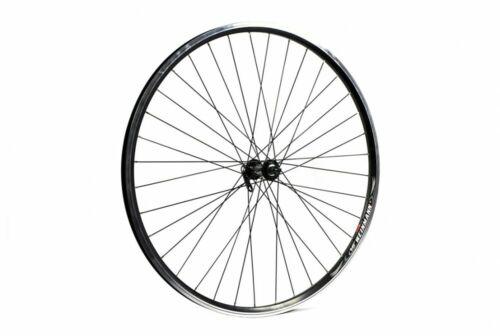 ETC Bike Front Wheel Hybrid City Alloy Double Wall Black Quick Release 700C