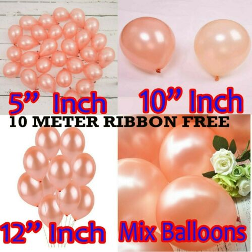 """Rose Gold 5/"""" 10/"""" 12/"""" Inch  balloons Happy Birthday Confetti Balloons Party"""