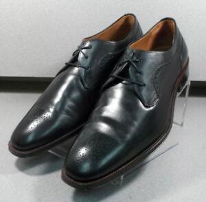 151775 PF50 Men's Shoes Size 11.5 M Black Leather Lace Up Johnston & Murphy