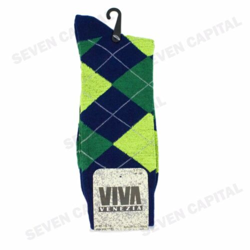 3 6 9 12 Pairs Mens Argyle Diamond Dress Socks Cotton Multi Color Size 10-13
