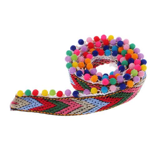 Crafts and Decoration Multicolor Pom Poms Beaded Trim Fringe Craft for DIY