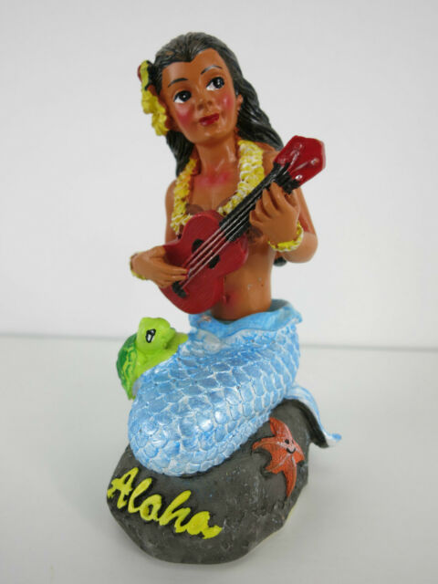 Dashboard Doll Mermaid Rockabilly Hawaii Kustom Kulture Turtle Ukulele Starfish