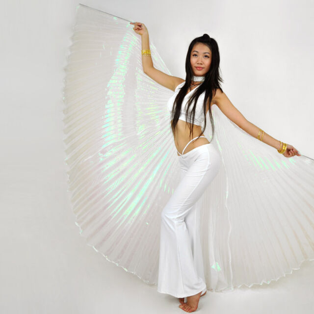 NEW Belly Dance Costume Isis Wings White colour 8 colors White (no stick)