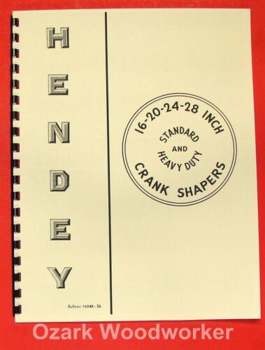 HENDEY 16-20-24-28 Metal Shaper Bulletin 0352
