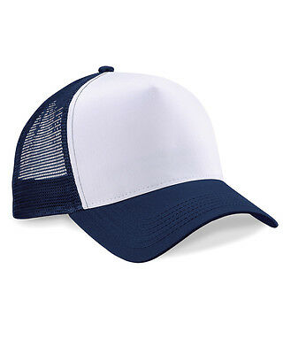 Unisex Snapback Trucker Cap - Beechfield baseball half mesh hat - One size