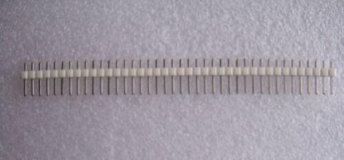 Barrette peigne 40 pin connecteurs mâles espacé 2.54 mm blanc qualité ROHS