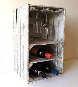 cassette della frutta in legno,pitturate shabby chic,porta bottiglie