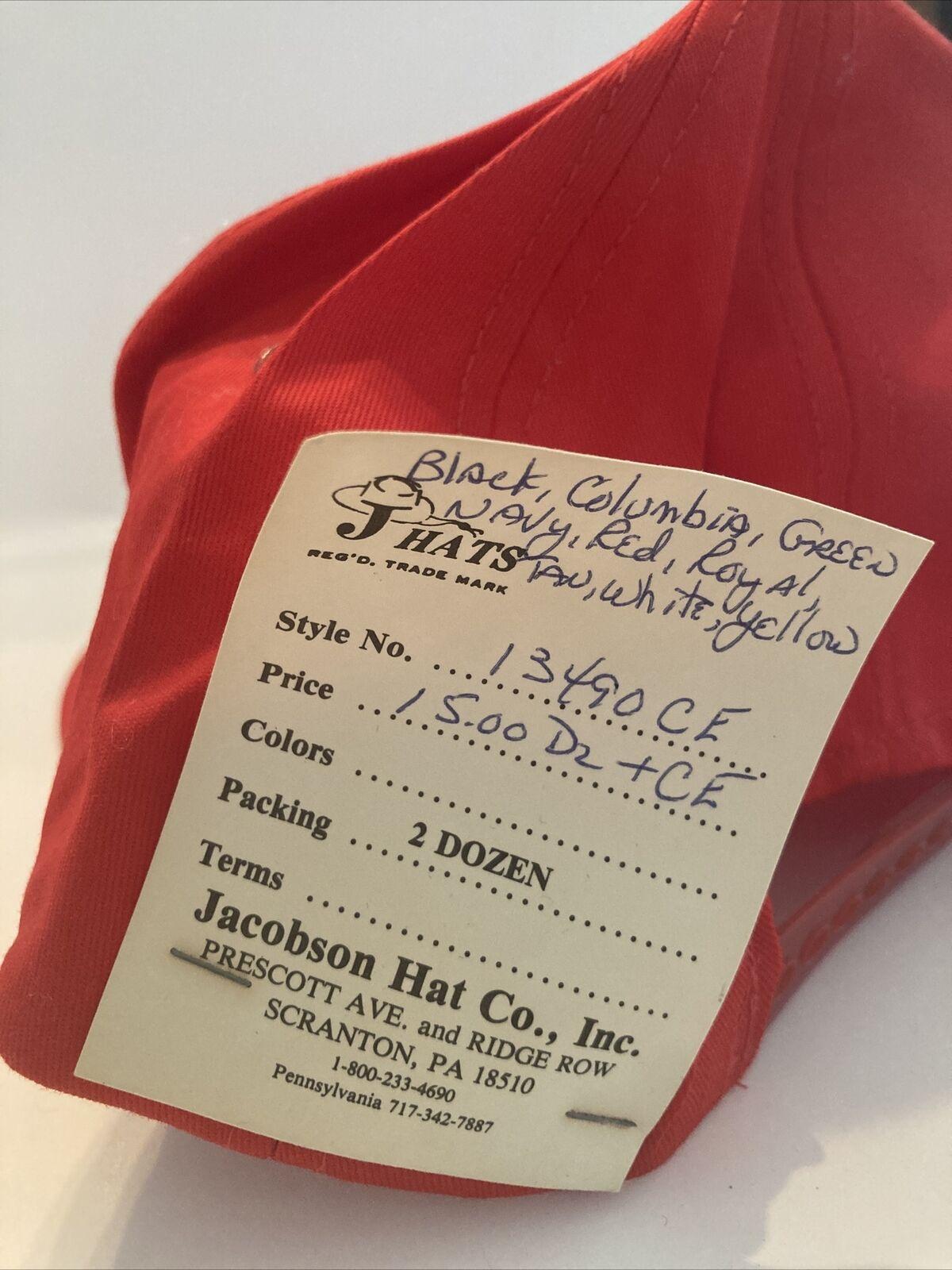 Vintage Red Vermont Snap Back Hat, J Hats, Embroi… - image 5
