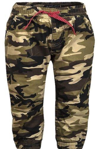 Bambini Ragazzi Pantaloni Lungo Pantaloni Mimetici Combat Cargo Elastico in vita 2,3,4,5YR