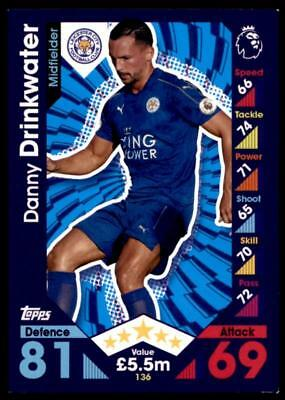 Danny Drinkwater SIGNED Match Attax Card Leicester City