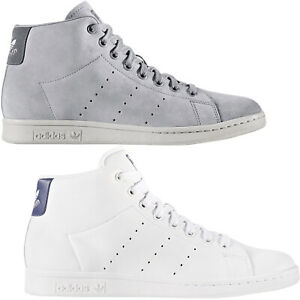 adidas-Originals-Mens-Stan-Smith-Mid-Rise-Casual-Lace-Up-Trainers-Sneakers-Shoes