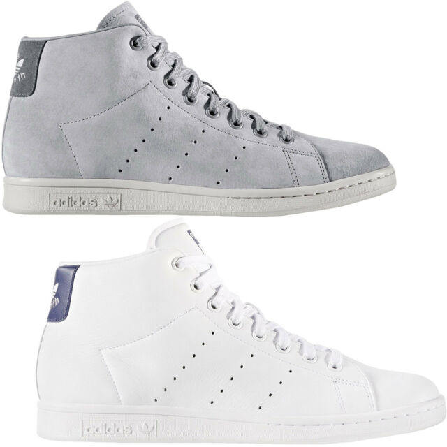 f6d8230a adidas Originals Mens Stan Smith Mid Rise Casual Lace Up Trainers Sneakers  Shoes