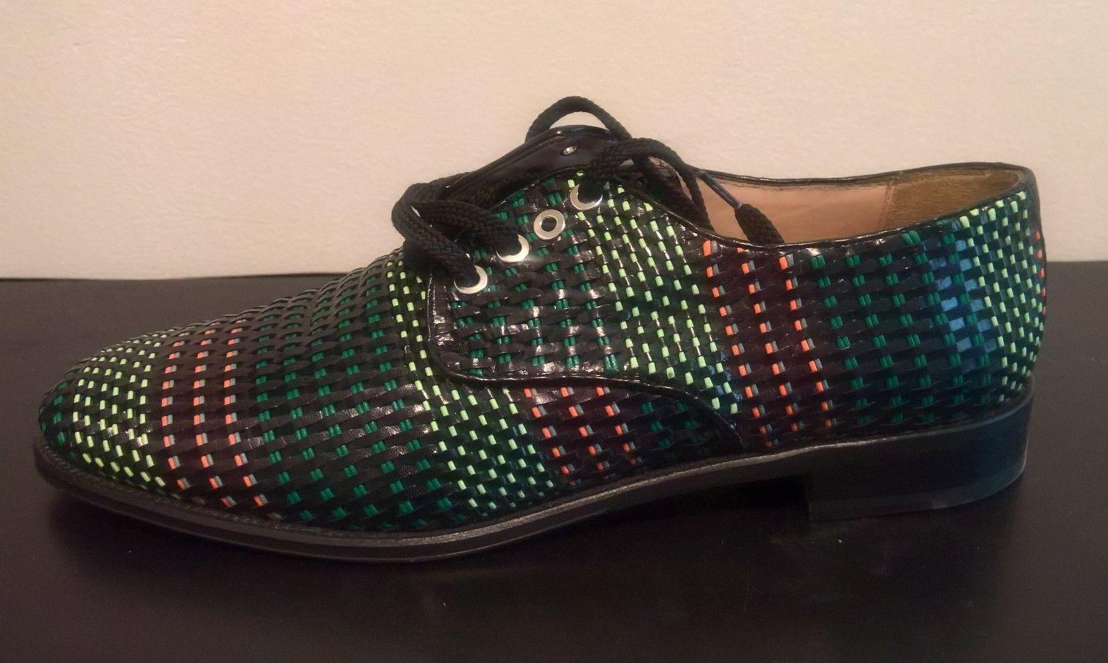 Diane B. Milano Women Multi Black Woven Oxford Lace Up shoes Size 42  US 11