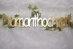 Effizient Tischdeko Dekoration Diamanthochzeit Schriftzug Gold