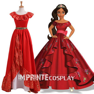 Details About Adult Princess Elena Dress Crown Princess Of Avalor Cosplay Costume Free Pp