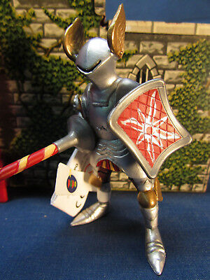 """Papo Castle /& Knights Series 2001 Jousting Knight Figurine Medieval 3/"""""""