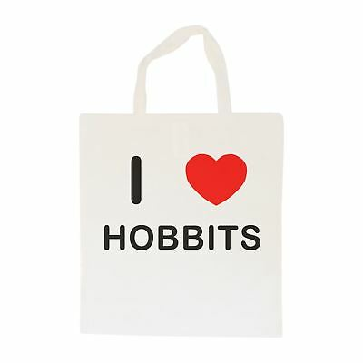 I Love Hobbits - Cotton Bag | Size choice Tote, Shopper or Sling