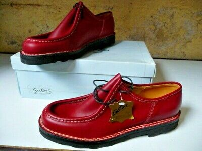 Chaussures Cuir Gatine Elry Rouge 42 Chaussures Habillées