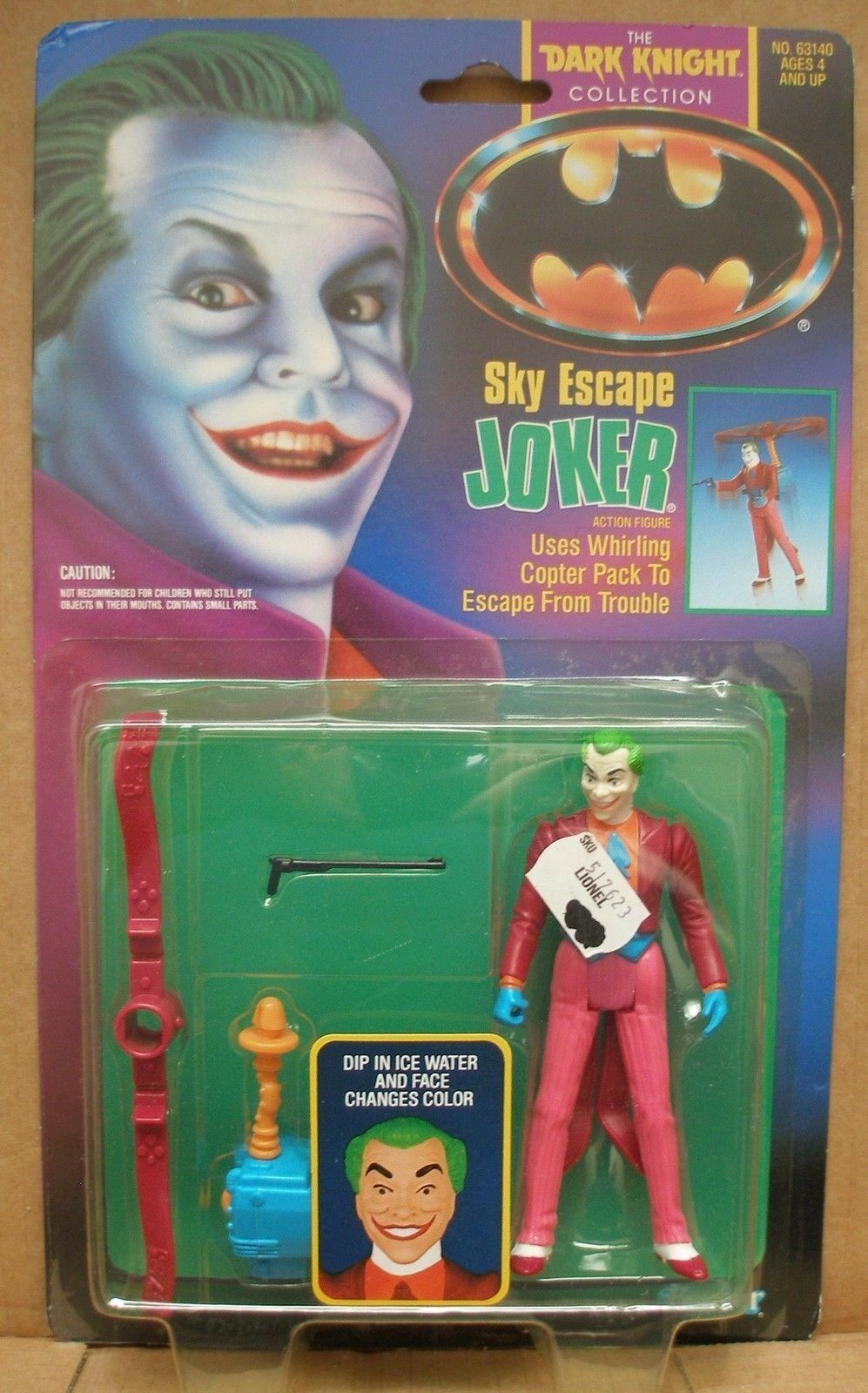 1989 Vintage Kenner The Dark Knight Collection  Sky Escape  Joker Action 5  fig.
