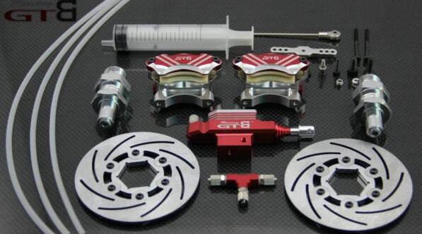 Sistema de freno hidráulico de rueda delantera para 1/5 RC coche Baja 5B 5 T 5SC