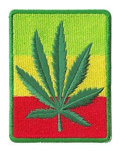 Patche Reggae écusson thermocollant Rasta Man Ganja patch badge
