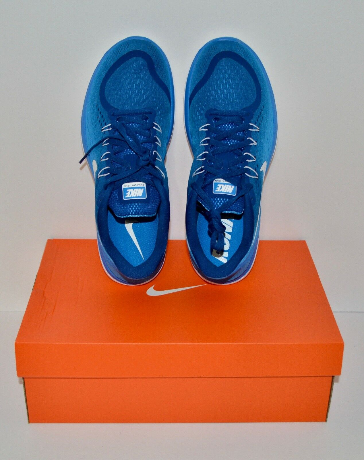 Nike Flex 2018 RN Men's Running Shoes/Gym Blue/White-Photo Blue Size 10.5 New