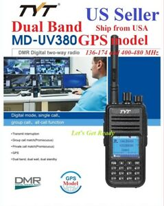 TYT-MD-UV380-GPS-model-Dual-Band-144-amp-430MHz-DMR-Digital-Analog-Radio-US-Seller