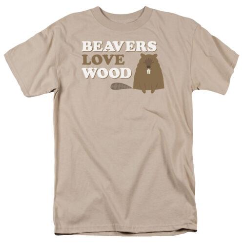 BEAVERS LOVE WOOD Humorous Adult T-Shirt All Sizes