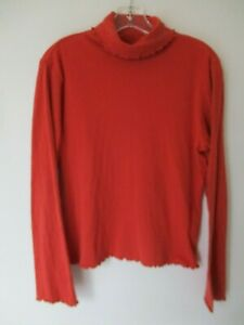 J-Jill-Women-039-s-Size-M-Cotton-Long-Sleeve-Turtle-Neck-Blouse