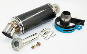 51mm-Motorcycle-Slip-On-Exhaust-Muffler-Pipe-System-Silencer-w-Angled-DB-Killer