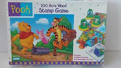 Disney Winnie the Pooh 100 Acre Wood Stamp Game Parker Brothers Complete