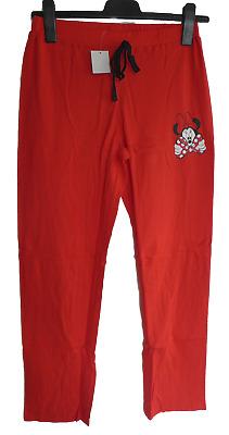 S Damen Pyjamahose Schlafanzughose lang Minnie Mouse rot Gr M L