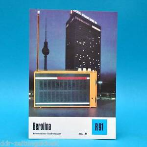 Berolina-Volltransistor-Taschensup-1971-Prospekt-Werbung-DEWAG-Werbeblatt-R91-F