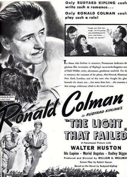 The Light That Failed 1939 DVD Ronald Colman, Walter Huston, Ida Lupino