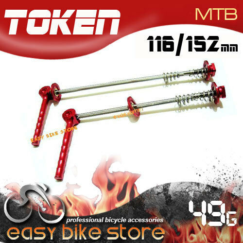 TOKEN TK235 RED HUB QR Titanium  TI AXLE SKEWER 100MM 135MM  MTB BIKE Y-CUT