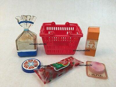 Re-ment dollhouse miniature picnic basket chocolate sandwich bottled water 2008