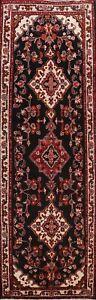Vintage-Floral-Traditional-Runner-Rug-Hand-Knotted-Oriental-Hallway-Carpet-4x10