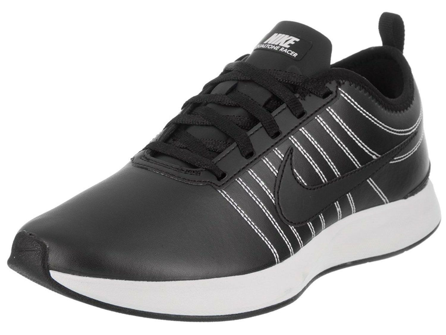 Women Athletic Sneakers Nike shoes Dualtone Racer PRM Leather Leather Leather Black AH0312002 27a0eb