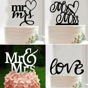 Image Is Loading Acrylic Wedding Cake Topper Mr Amp Mrs Love