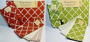 8-pc-Set-Placemats-Pot-Holder-Oven-Mitt-Dish-Towels-Sienna-Or-Sage-Quatrefoil