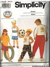 7250 Vintage Simplicity Sewing Pattern Boys Girls Pants Shorts Hat Knit Tops OOP