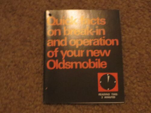 1967 1968 1969 1970 1971 OLDSMOBILE CUTLASS 442 88 98 TORONADO ENGINE BRAKE IN T
