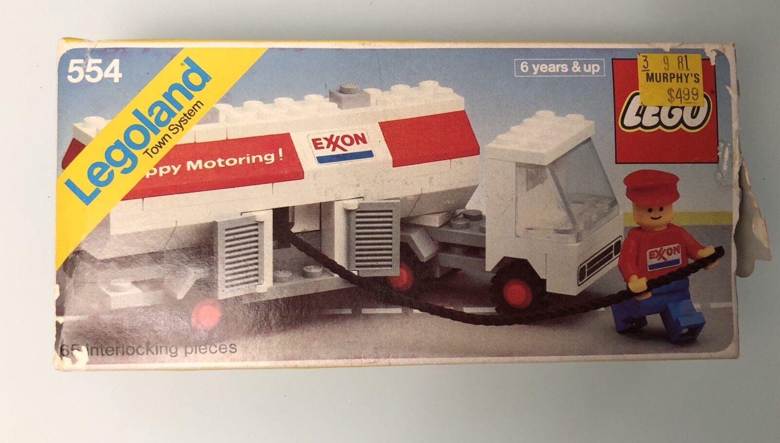 Vintage Legos Legoland 554 Exxon Fuel Pumper 1978