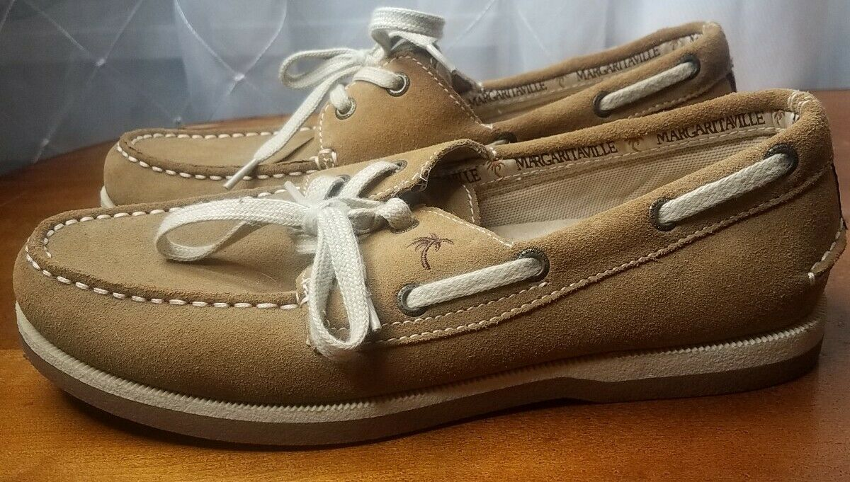 Mens 8.5 MARGARITAVILLE Boat Shoes Loafers Soles of Tropics Buffet Euro 42
